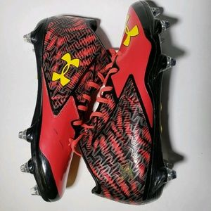 Under Armour Red Nitro Football Cleats